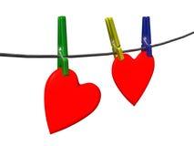 Corações do Pin Fotografia de Stock Royalty Free