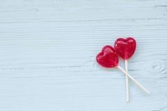 Corações do PNF do Lolly Foto de Stock