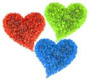 Corações do RGB Fotos de Stock