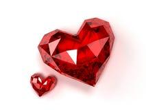 Corações do rubi Fotos de Stock Royalty Free