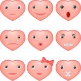 Corações do smiley ilustração do vetor