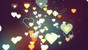 Corações do sumário a obscuridade Foto de Stock