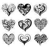 Corações do tatuagem Foto de Stock Royalty Free