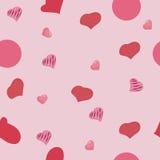 Corações do teste padrão Foto de Stock