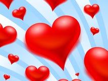 Corações do vôo Imagem de Stock