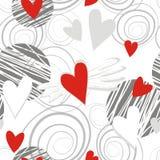 Corações do vôo no branco ilustração do vetor