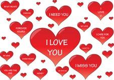Corações do Valentim Imagem de Stock