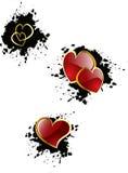 Corações do Valentim do vetor Fotos de Stock