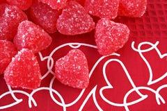 Corações do Valentim dos doces foto de stock royalty free