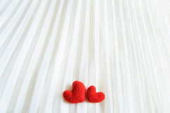 Corações do Valentim no fundo abstrato Foto de Stock Royalty Free