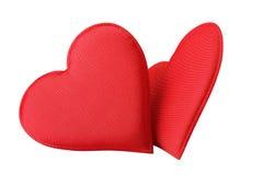 Corações do vermelho da tela imagens de stock royalty free