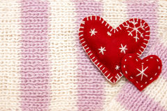 Corações do vermelho do Natal Fotografia de Stock