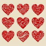 Corações do vetor Fotografia de Stock
