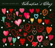 Corações do vetor ajustados Foto de Stock