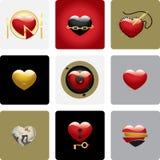 Corações do vetor - jogo dois Imagens de Stock