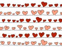 Corações do vetor no branco Foto de Stock Royalty Free