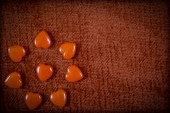 Corações do vintage para o dia de Valentim Fotografia de Stock