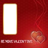 Corações do whit do cartão do dia de são valentim. Imagens de Stock