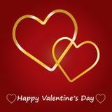Corações do whit do cartão do dia de são valentim. Fotos de Stock