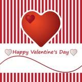Corações do whit do cartão do dia de são valentim. Fotografia de Stock