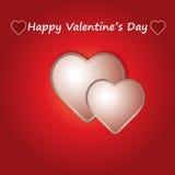 Corações do whit do cartão do dia de são valentim. Foto de Stock