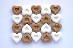 Corações doces do açúcar Fotos de Stock Royalty Free
