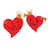 Corações dos desenhos animados do bebê Imagens de Stock