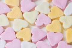 Corações dos doces como o fundo fotografia de stock