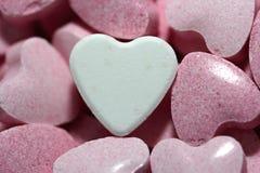 Corações dos doces do dia de Valentim Imagens de Stock Royalty Free