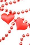 Corações dos pares Fotografia de Stock
