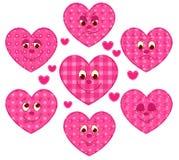 Corações dos retalhos Imagens de Stock