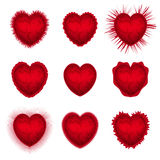 Corações dos Valentim ajustados ilustração royalty free