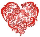 Corações dos Valentim com borboleta ilustração do vetor