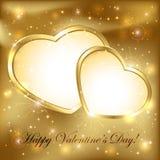 Corações dourados Fotografia de Stock