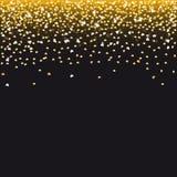 Corações dourados de queda Fotografia de Stock Royalty Free