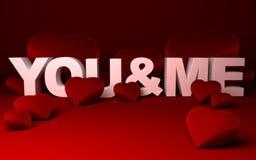 Corações e   Imagem de Stock