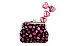 Corações e amor da bolsa Imagem de Stock