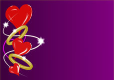 Corações e anéis dos Valentim Fotos de Stock Royalty Free