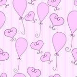Corações e balões Ilustração Stock