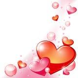 Corações e bolhas Imagem de Stock