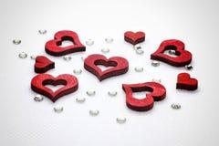 Corações e diamantes Fotografia de Stock