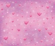 Corações e estrelas ilustração stock