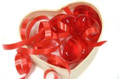 Corações e fitas Imagem de Stock