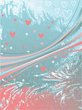 Corações e fitas cor-de-rosa Foto de Stock