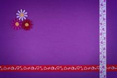 Corações e flores Fotos de Stock Royalty Free