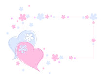 Corações e flores ilustração stock