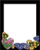 Corações e flores ilustração do vetor