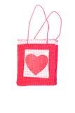 Corações e flores ao Valentim em um fundo branco isolado Fotografia de Stock Royalty Free