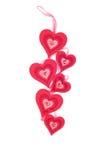 Corações e flores ao Valentim isolado na sagacidade branca do fundo Imagem de Stock