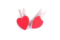 Corações e flores ao Valentim isolado na sagacidade branca do fundo Foto de Stock